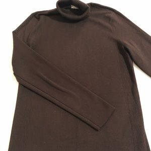 Chico's brown turtleneck sweater size 1